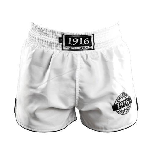 1916 kickboksbroek old school wit