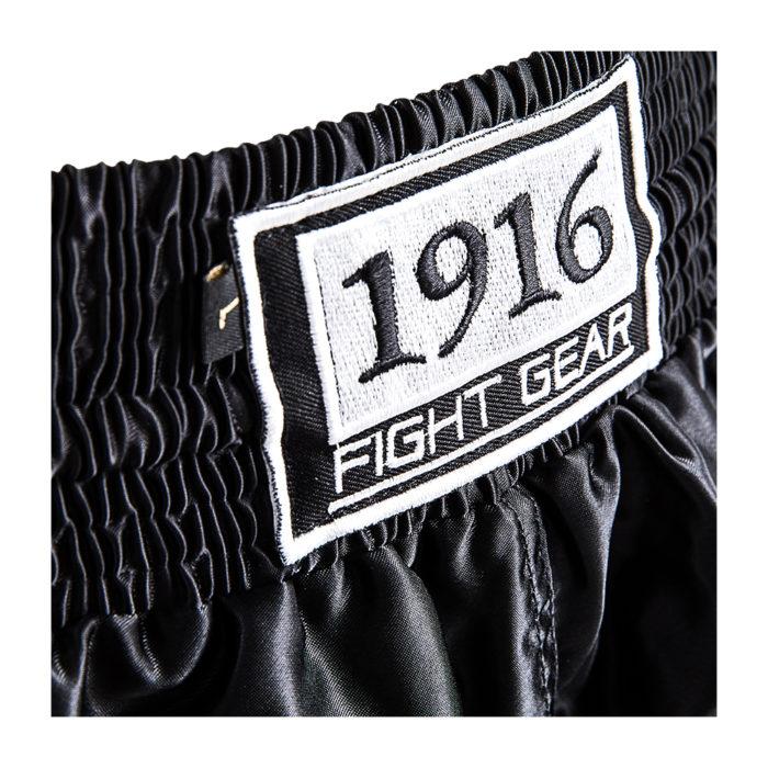 1916 kickboksbroek old school zwart