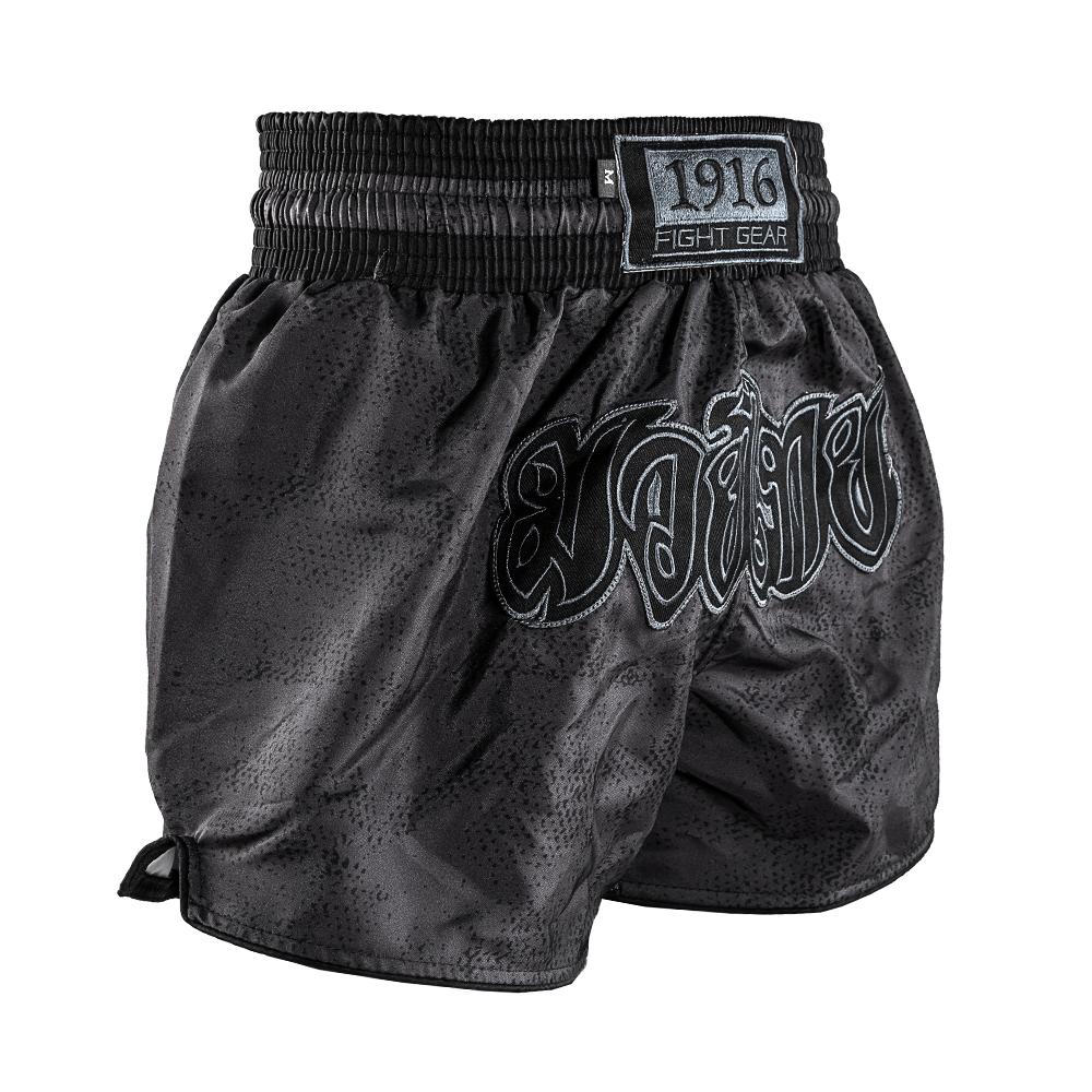 1916 kickboksbroek classic zwart