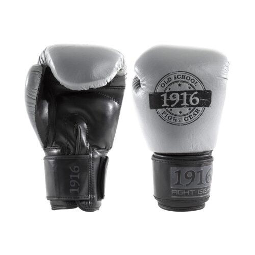 1916 Bokshandschoen Hybrid Grijs/Zwart