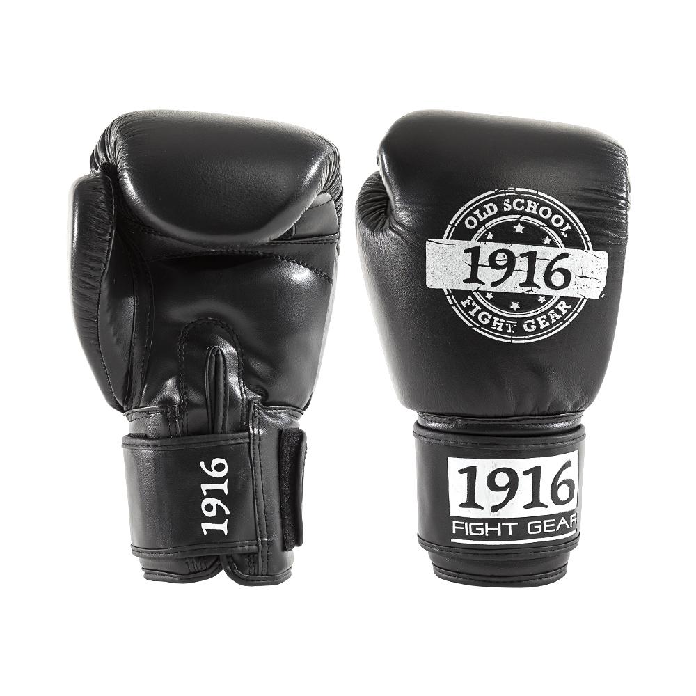 1916 Bokshandschoen Hybrid Zwart/Wit